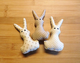 Brown Easter Rabbits Ornaments Holiday Bowl Fillers Spring Decorations