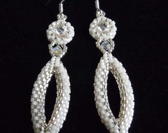 Bridal Earrings, Wedding Earrings, Beaded Earrings, Drop Earrings, Formal Earrings, Pageant Earrings