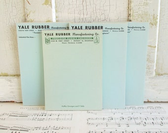 Four Vintage Note Pads - Yale Rubber Manufacturing Co. Detroit Michigan