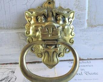 Vintage Lion Brass Door Knocker