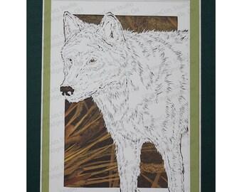 Wolf Papercutting- Handcut Original