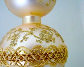 Vintage Mercury Glass Tree Topper - Gold and Glitter