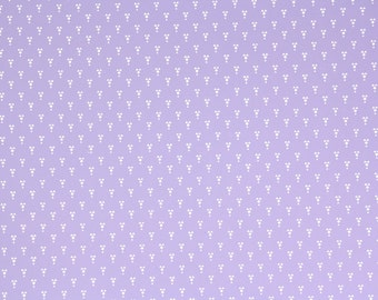 1970s Vintage Wallpaper by the Yard - Laura Ashely Lavender and White Geometric