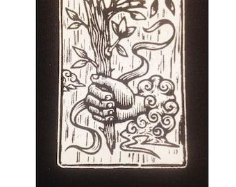 Jacket Patch - Tarot Card Sew On Punk Patch - Ace of Wands Tarot Card Punk Patch - Punk Patches - Sew On Patch - Black Patch - Goth Patch