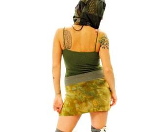 Hippie Skirt - Boho Skirt - Short Skirt - Womens Skirt - Mini Skirt - Festival Skirt - Hand Dyed Skirt - Organic Bamboo Skirt - Earthy Skirt