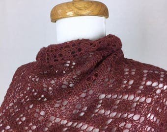 Triangular Lace Shawl - Sunset Heather