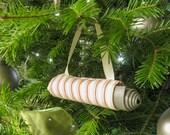 Yoga Stocking Stuffer. Christmas Ornament. Coral Stripe Yoga Bag Christmas Decoration. Yoga Instructor Gift. Secret Santa Gift Idea