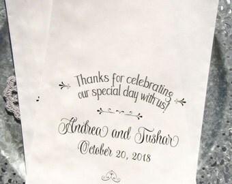 Unique Wedding Favor Bags | Wedding Candy Buffet Bags | Personalized Wedding Bags | Wedding Candy Bag | Printed Favor Bags | Favor Bags