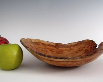 Natural Edge Maple Burl Wood Turned  Bowl or Platter- Wood Bowl - Christmas Gift- Wedding Gift- Gifts for Him - Gifts for Her- Wooden Bowl