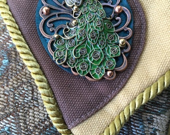 Peacock Fancy Pocket Shoulder Bag