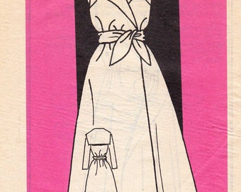 """1980's Vintage Sewing Pattern Ladies' Wrap Dress Mail Order 9431 38"""" Bust - Free Pattern Grading E-book Included"""