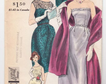 """ORIGINAL Vintage Sewing Pattern 1960's Ladies Dress Vogue 4140 Special Design Size 34"""" Bust - Free Pattern Grading E-book Included"""