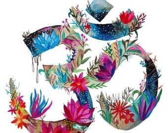 Blooming Om Print