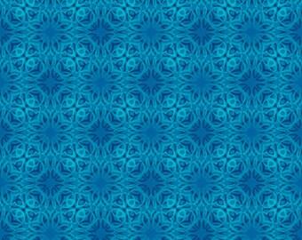 Treasures of Nature Tonal Swirl Medium Blue Jason Yenter Fabric 1 yard