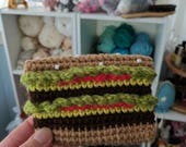 Kawaii cute hamburger burger cheeseburger wallet crochet