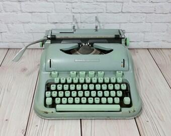 Vintage Hermes 3000 Typewriter Portable With Case