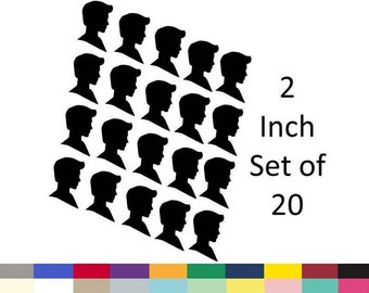 Boy Silhouette Party Decoration Table Scatter Confetti Cupcake Topper Straw Toppers Die Cut Paper Cuttings 2 inch Set Of 20