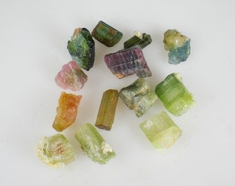 Pink, Blue & Green Tourmaline Rough Gemstones Natural Healing Metaphysical Reiki
