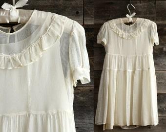 SALE 1940s Sheer Dress