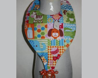 Baby Bibs, Pacifier Bibs, Bibs with Pacifier, Bibs, Pacifier, Zoo Animals