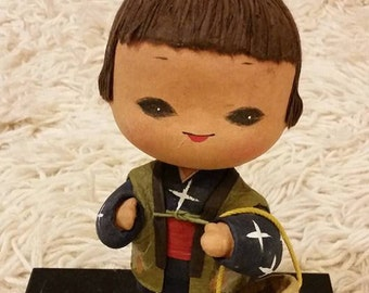 sale - Japanese paper mache doll