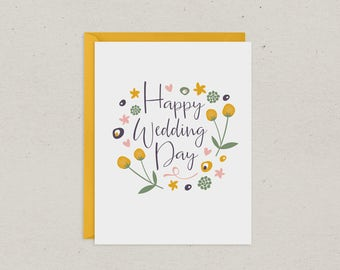Wedding Card | Wedding Day Floral | Greeting Card