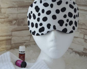 Mini Velour Cow Print Sleep/Eye Mask for Travel, etc. ~ READY TO SHIP ~ Gift for Her, Gift for Him, Teachers, Friends, All Occasion Gifts