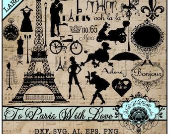 Paris svg, Clipart or Illustrations SVG, AI, EPS or transparent pngs, Fashion, Eiffel Tower, Cafe, damask