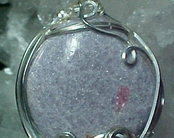 Lepidolite Pink Tourmaline Crystal Sterling Silver Wire Art Pendant Make Great Transitions In Your Life And Promote Self Love 217