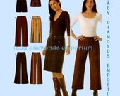 Simplicity 4965 Womens Pants & Skirt in 2 Lengths Cropped Gauchos Wide Leg Mini Skirt size 12 14 16 18 20 Plus Size Sewing Pattern Uncut FF