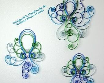 Aqua Marine Octopus Set- Handmade wall hangings