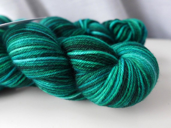 Sundara Sport Merino Two -  Under The Sea  - Green Forest Algae Superwash Merino Sport Weight Yarn