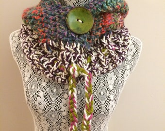 Multicolor Hooded Cowl HC/16/16