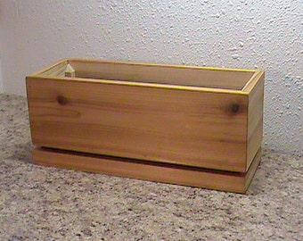 Kitchen Herb Planter - Wood Herb Planter - Wooden Planter - Indoor Herb Planter - Wood Planter