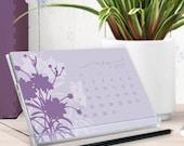 2017 calendar - cd calendar - color botanical art illustrations - 2017 desk calendar - flower calendar - free shipping to U.S.
