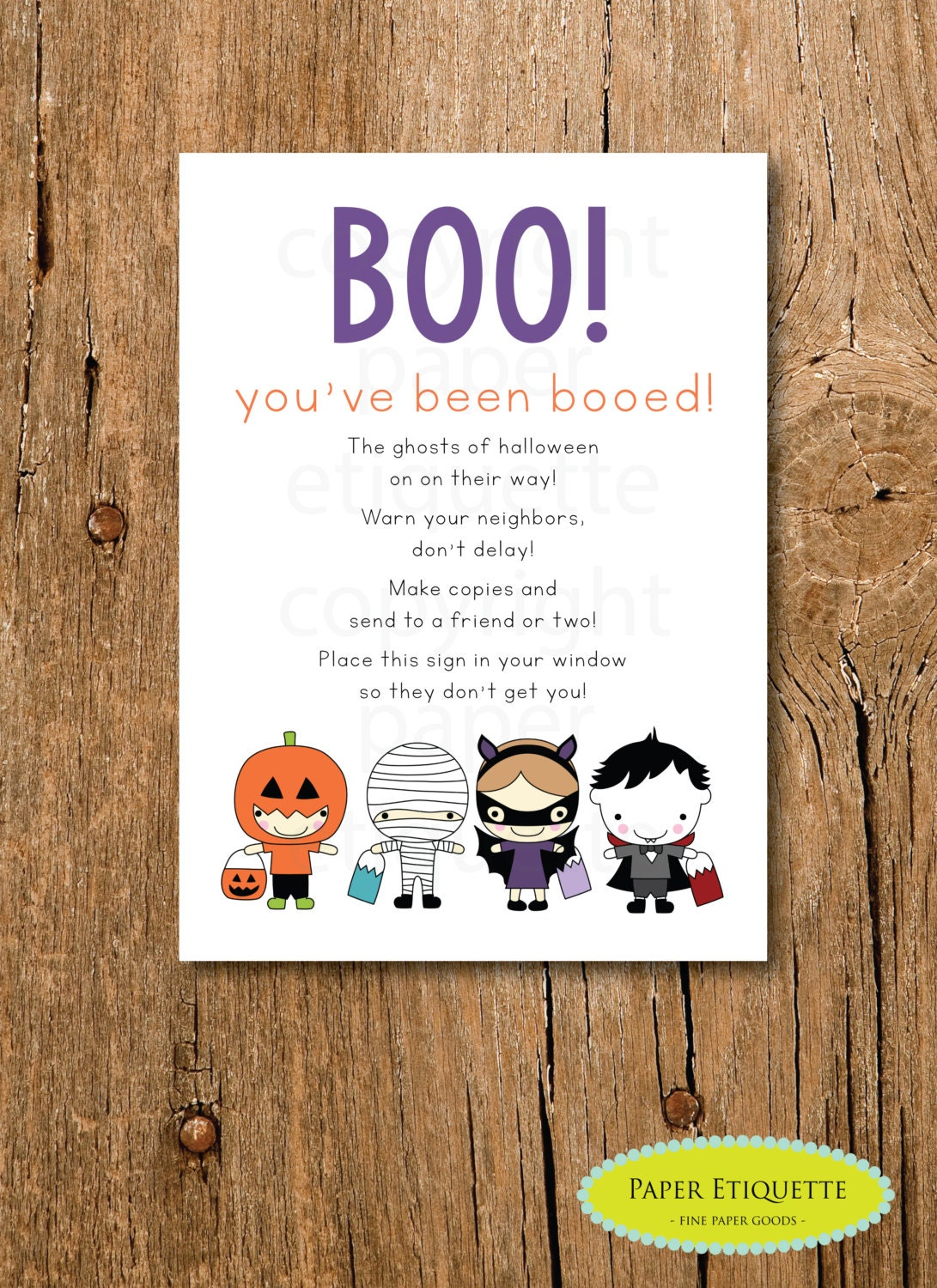 It's just a graphic of Crazy You've Been Booed Printable Pdf
