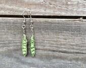 Little peas earrings - stoneware  - Earrings