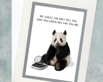 Weight Loss Greeting Card - Panda Greeting Card - Weight Humor Card - Quote Greeting Card - Animal Card