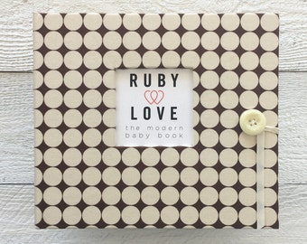 Chocolate Brown Dotty | BABY BOOK