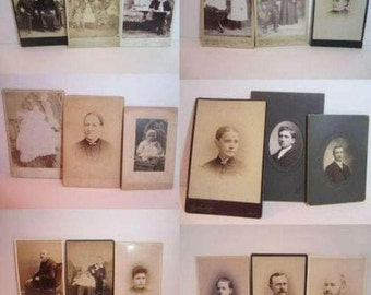 Antique Cabinet Card Photographs...18 Ancient Faces
