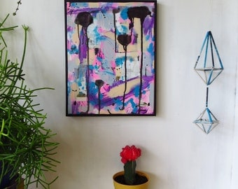 Collage, Abstract, Mixed Media Original, Framed