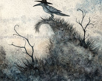 5x7 The Hedgewitch crow raven PRINT by Amy Brown