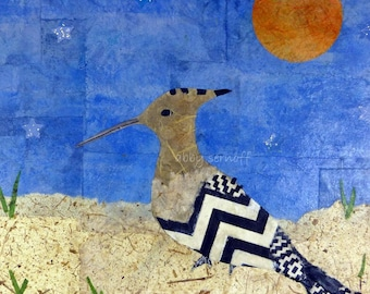 Hoopoe Bird Fine Art Giclee Print 8 x 10