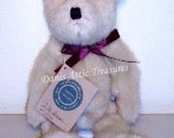"""Boyds Bears Retired RARE 10"""" J. B. Bean (Old Face) #5106, JB Bean Series, Vintage 1991 Collectible"""