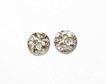 Sterling wildflower post earrings, botanical replica, floral studs, hiker jewelry, camper gift, hill walker jewelry