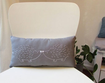 hedgehog pillow - hedgehog cushion - woodland decor