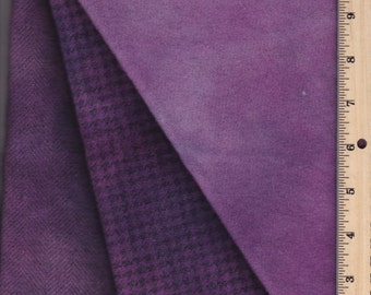 Hand-dyed Purple Colored, 100% Wool, 3 texture choices