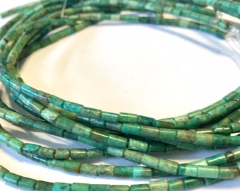 REAL TURQUOISE tiny tube beads full 15 inch long strand great color great deal