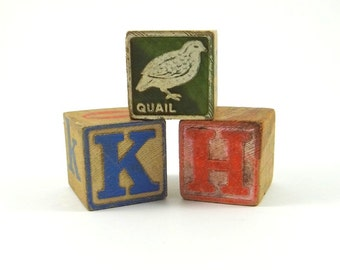 Vintage Wooden Blocks from 1950s