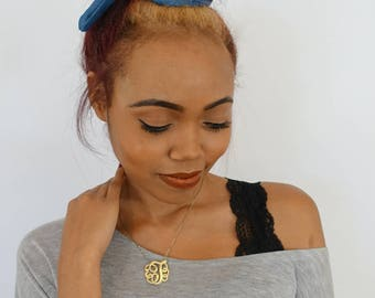 BUN WIRE Wrap Messy Bun Headband Wrap Denim Blue Bun Wrap PonyTail Braid Ins - Choose Color